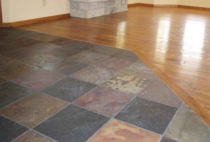 "Natural Slate/3/4"" Hand Scraped hardwood flooring"